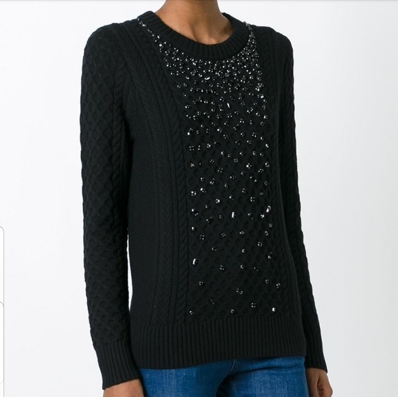 MICHAEL Michael Kors Sweaters - NWT Michael Kors Embellished Braided Sweater